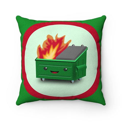 Dumpster Fire Faux Suede Pillow