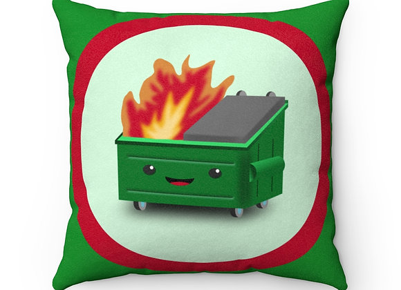 Dumpster Fire Faux Suede Pillow