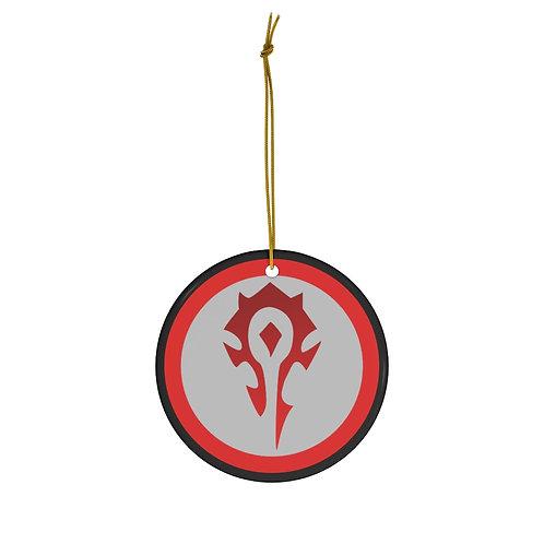 WoW Horde Round Ceramic Ornament