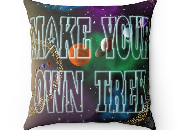 Make Your Own Trek Faux Suede Pillow