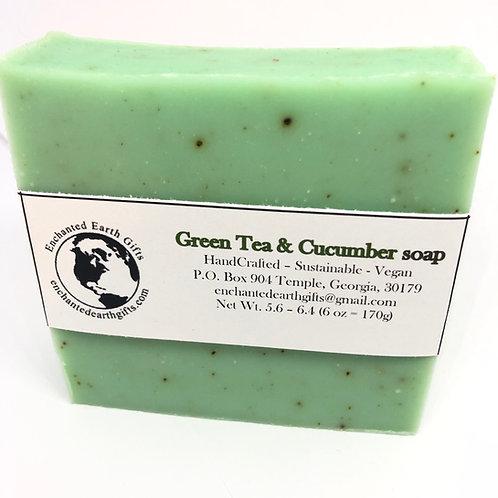 Green Tea and Cucumber soap