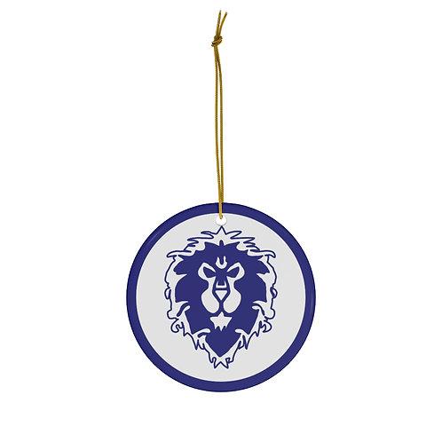 WoW Alliance Round Ceramic Ornament