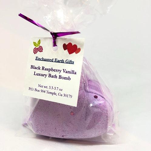 Black Raspberry Vanilla Bath Bomb Heart
