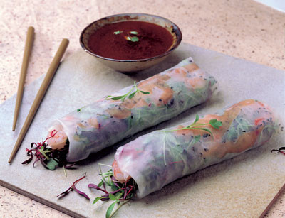 Shrimp and Microgreen Wraps