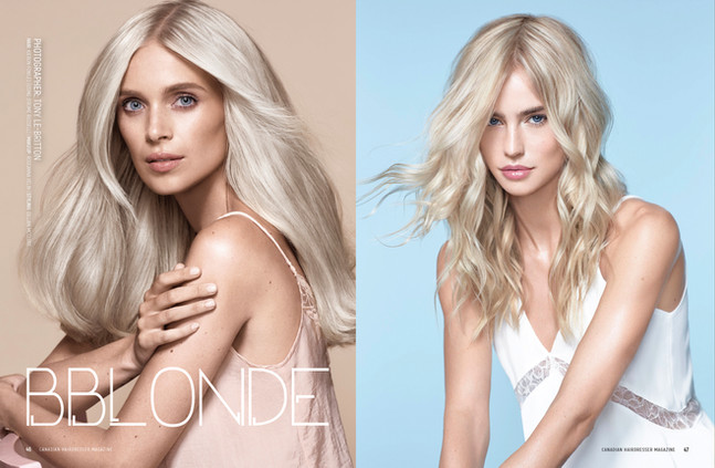 Canadian Hairdresser Magazine. Ad Campaign BBlonde