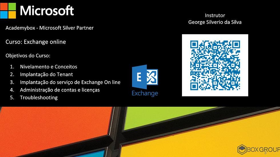 Curso Microsoft Exchange Online - Até 5 pessoas - Turma a Confirmar