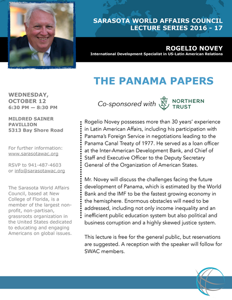 "Lecture Series: Rogelio Novey | ""The Panama Papers"""