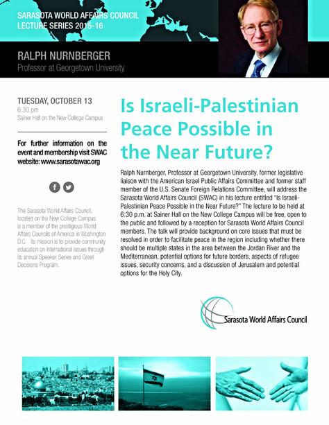Speaker Series: Professor Ralph Nurnberger