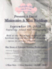 Minimonies & Mini Weddings Poster Ad - I