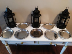 Set of 12 silver trays - $35.00