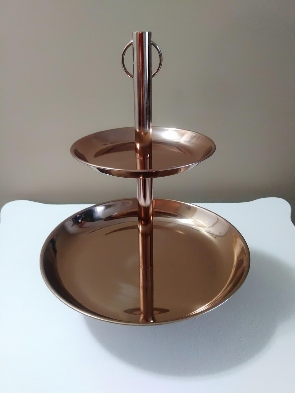 2 Tier Bronze Dessert Tray - $5.00