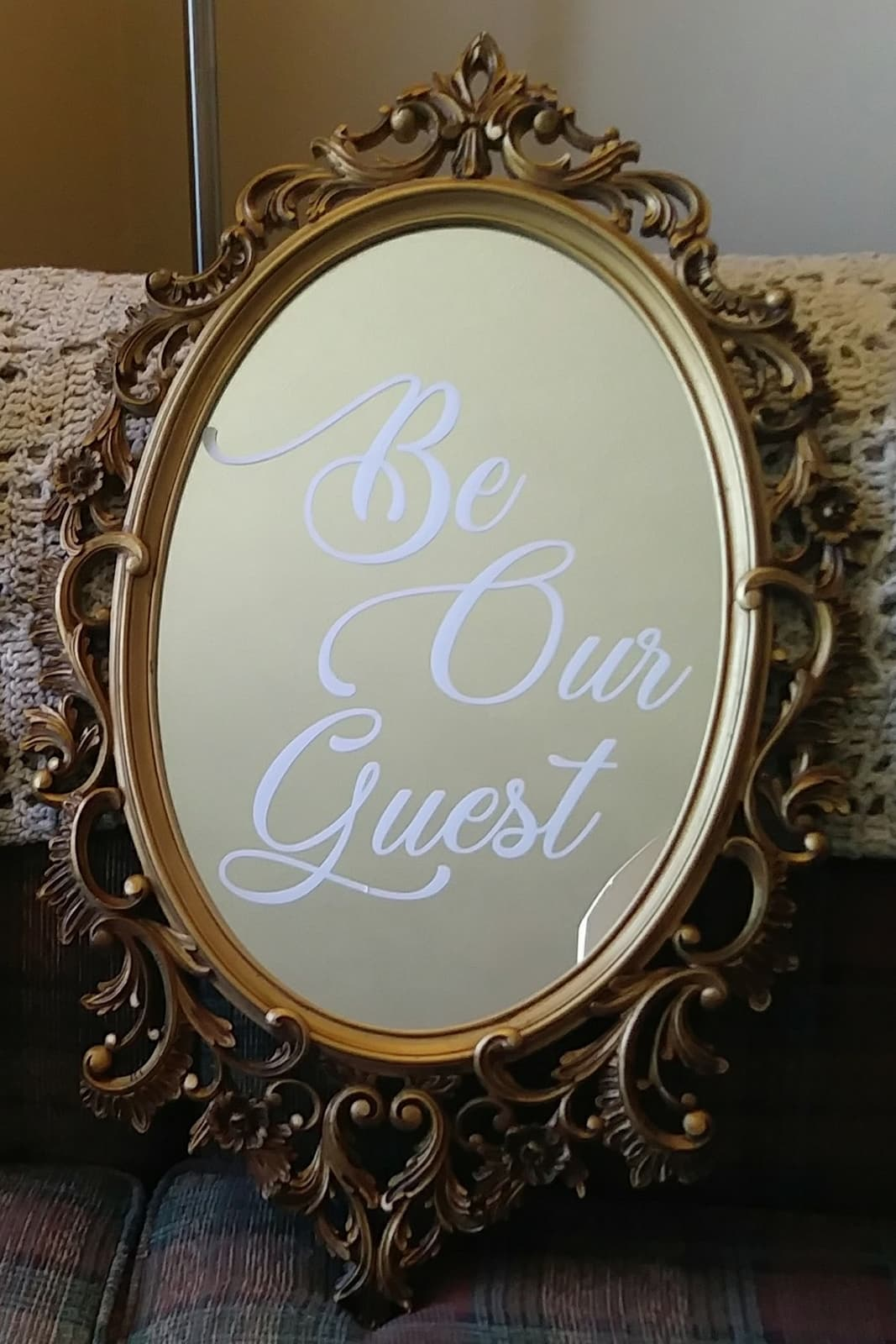 Ornate Be Our Guest Mirror - $40.00