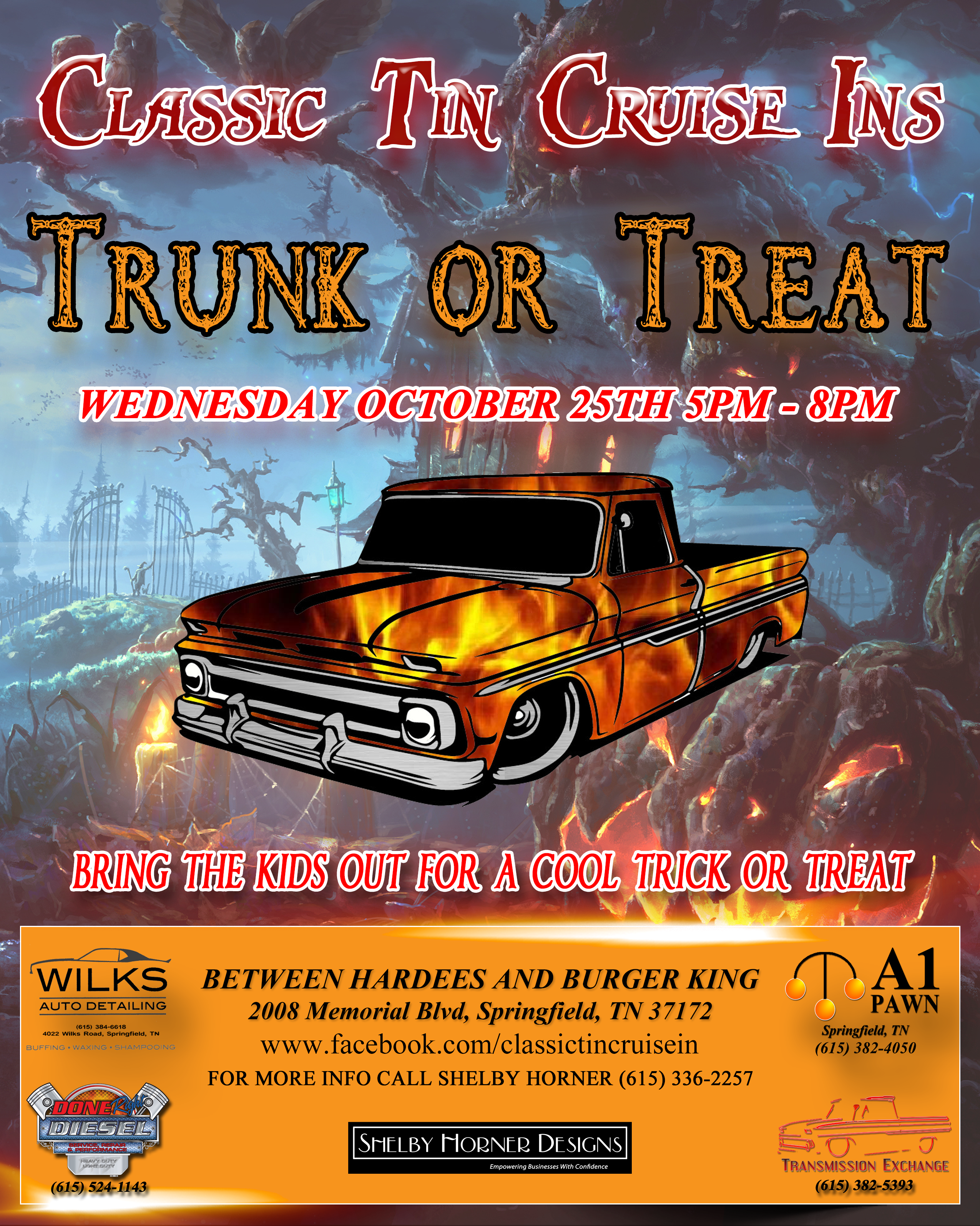Classic Tin Cruise In Trunk or Treat 2017