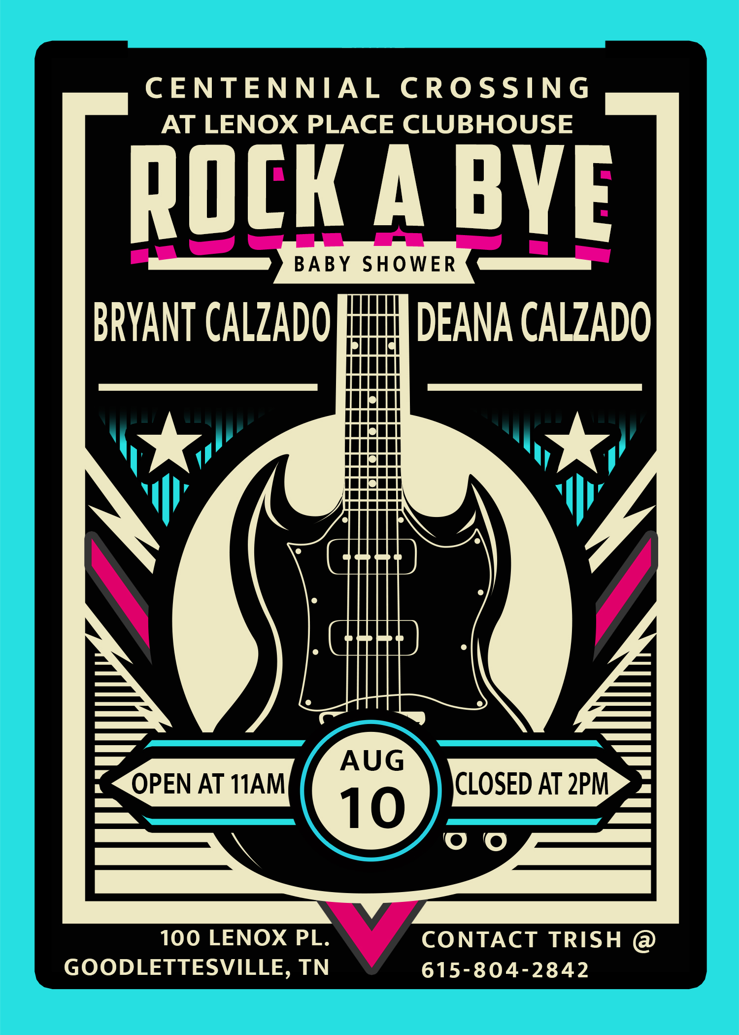 Rock a Bye Flyer 5X7