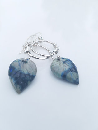 Carved Lapis Lazuli Earrings