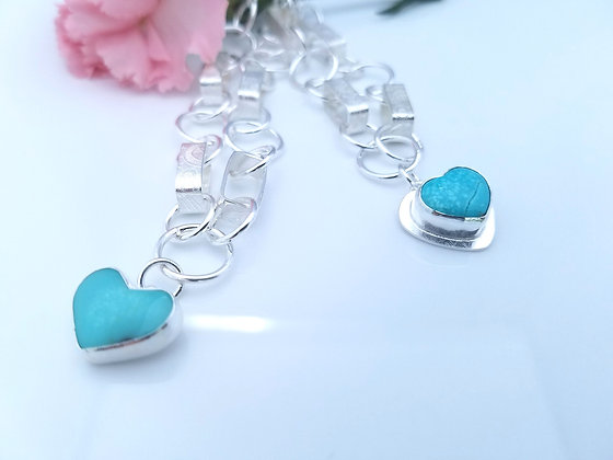 Turquoise Hearts For Heroes Bracelet