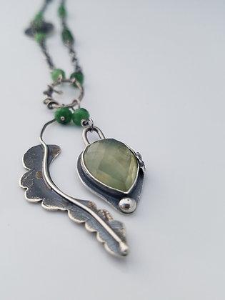 Prehnite Leaf Necklace