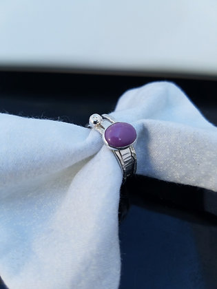 Phosphosiderite Stacking Ring in Sterling Silver