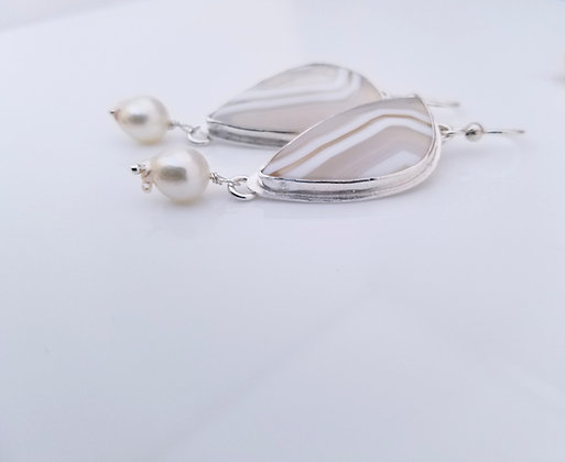 Laguna Lace Agate Earrings