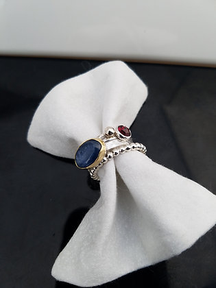 Kyanite Stacking Ring in Sterling Silver