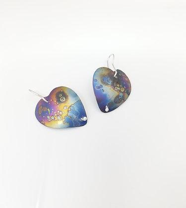 Titanium Heart Earrings - Pair 5