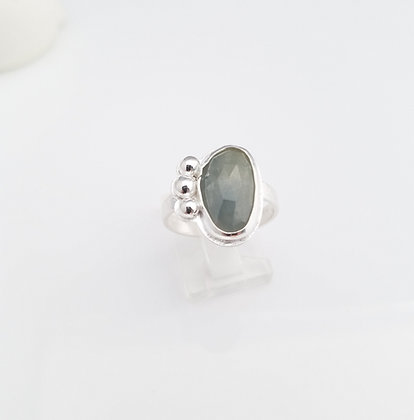 Sapphire Freeform Sterling Silver Ring