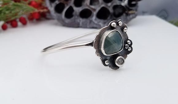 Natural Sapphire Cuff Bracelet