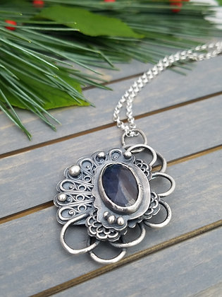 Natural Blue Sapphire Necklace