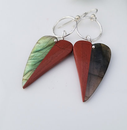 Labradorite and Jasper Earrings
