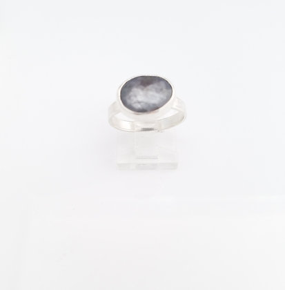 Gray Sapphire Sterling Silver Ring