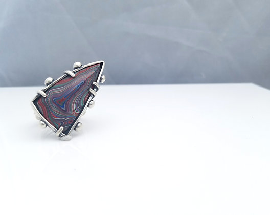 Fordite Statement Ring
