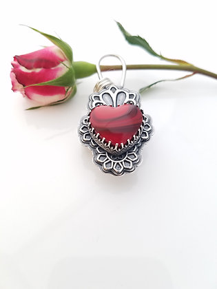 Rosarita Heart Locket Necklace