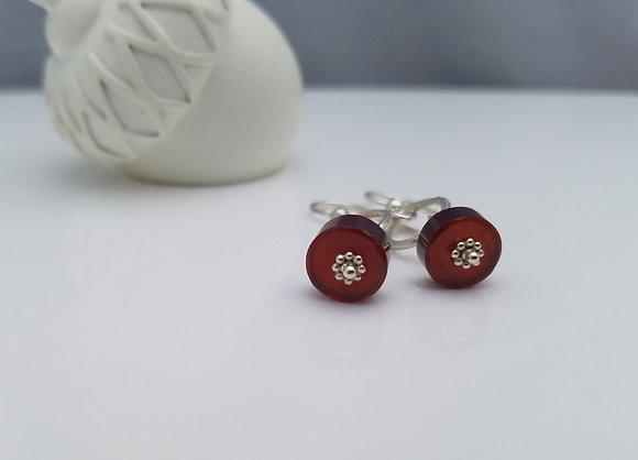 Hessonite Garnet Earrings