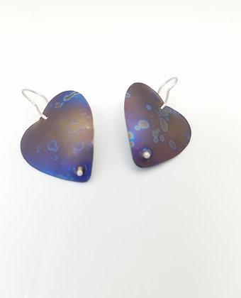 Titanium Heart Earrings - Pair 4