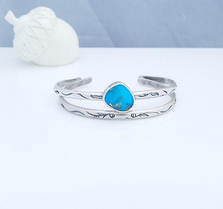 Stacking Kingman Turquoise Cuff Bracelet