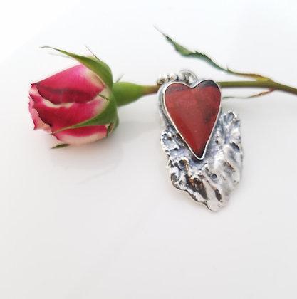 Sonoran Jasper Heart Necklace