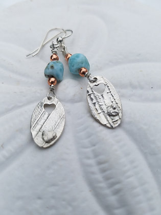 Larimar Nugget Earrings