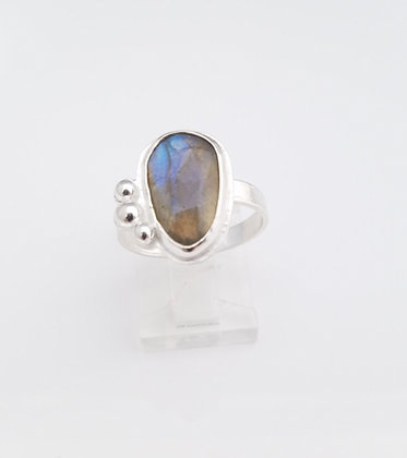Labradorite Freeform Sterling Silver Ring