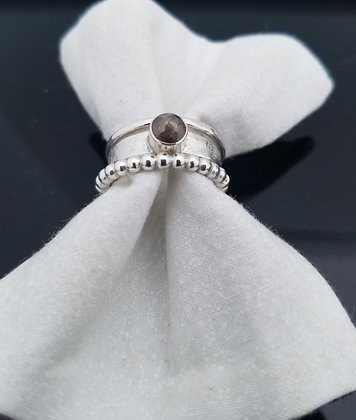 Diamond Stacking Ring in Sterling Silver