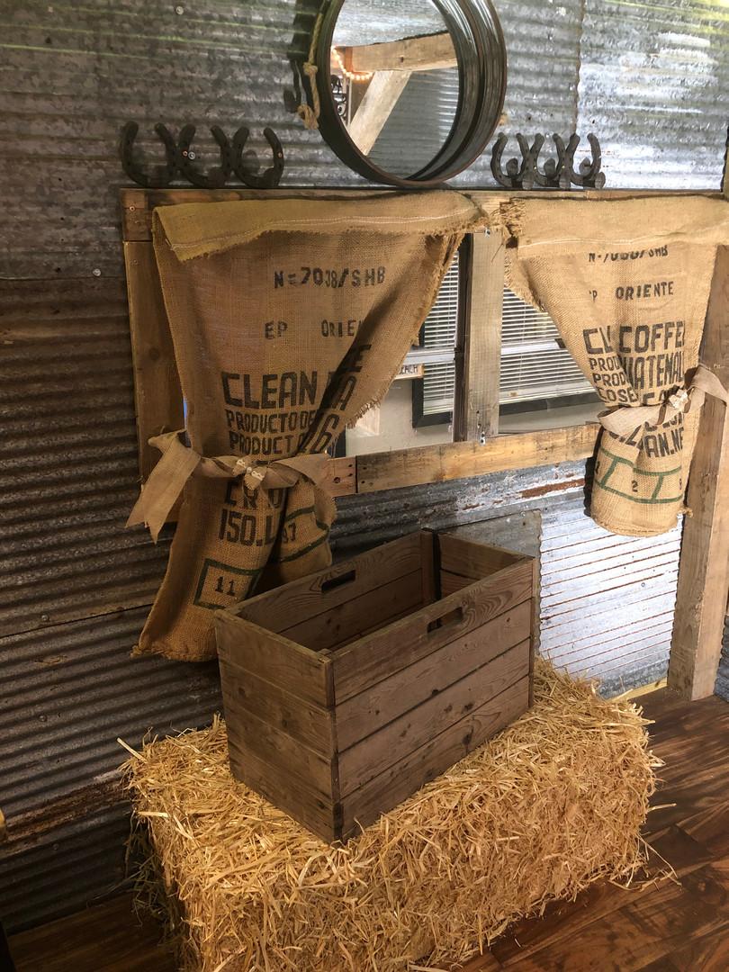 Hay bales for wheel wells