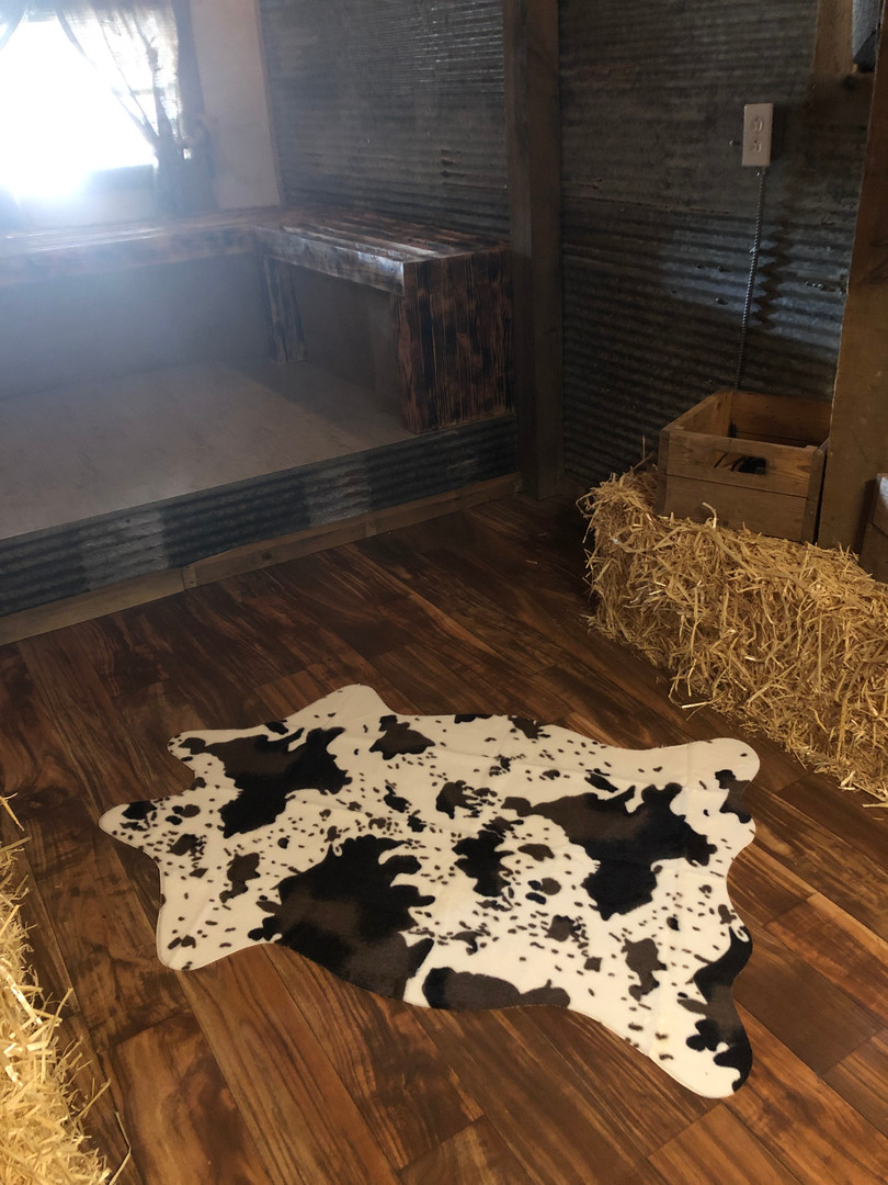 No cows were harmed in making THIS decoration!!