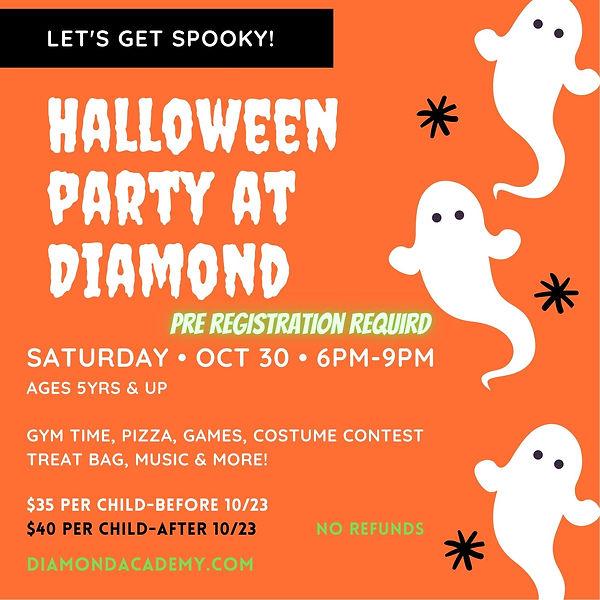 Orange Illustrated Ghosts 1st Halloween Birthday Invitation.jpg