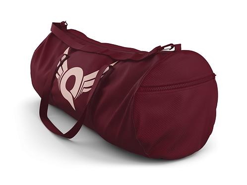 Q Logo Duffel Bag (Burgundy/Pink)
