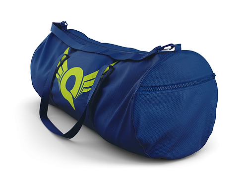 Q Logo Duffel Bag (Navy/Green)