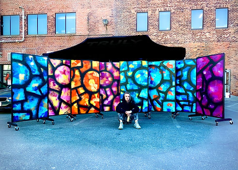 Artist and Artwork (Stardust).JPG