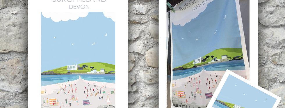 Burgh Island Tea Towel and Card
