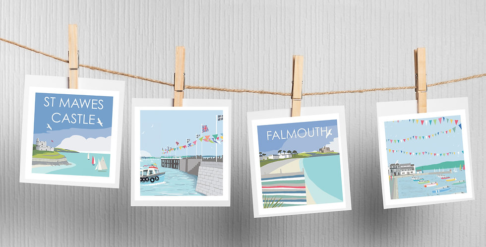 Set of 4 Falmouth Cards