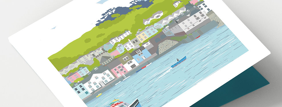 DARTMOUTH DEVON Greeting Card 1 or pack of 4