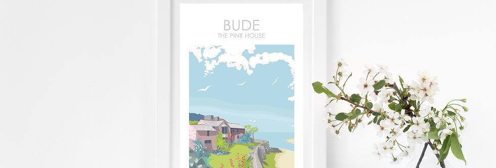 BUDE EFFORD COTTAGE PRINT