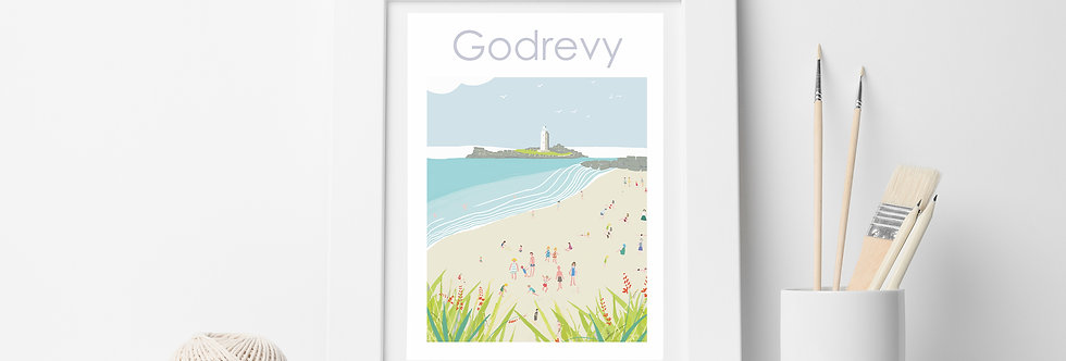 GODREVY LIGHTHOUSE PRINT